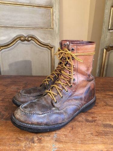 VTG Men's Herman Chukka Engineering Mountaineering Work Boots Size 11 E