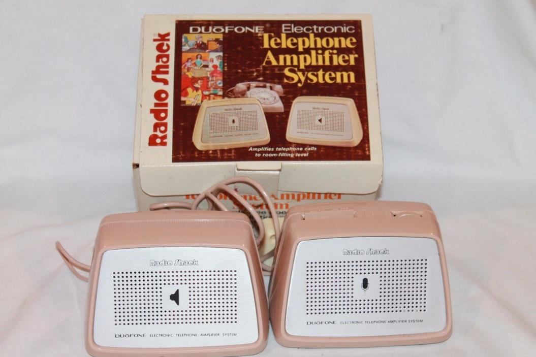 Radio Shack Duo Fone Electronic Telephone Amplifier System 43-270