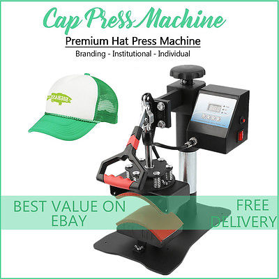 Digital Hat Cap Heat Press Machine Sublimation Transfer Steel Frame Swing Away T