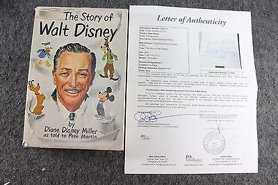 Vintage Story of Walt Disney By Diane Disney Miller 1st Ed Signed By Disney JSA