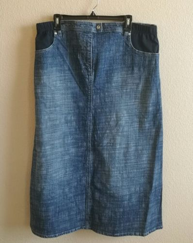Nexy maternity long jean skirt, denim, modest, apostolic, large us12 12