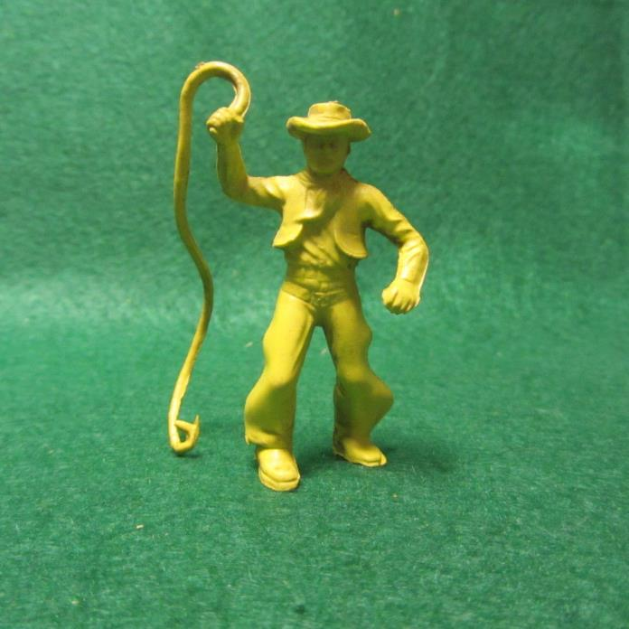 1950's Marx 60mm Cowboy W/Whip for Roy Rogers Rodeo Playset