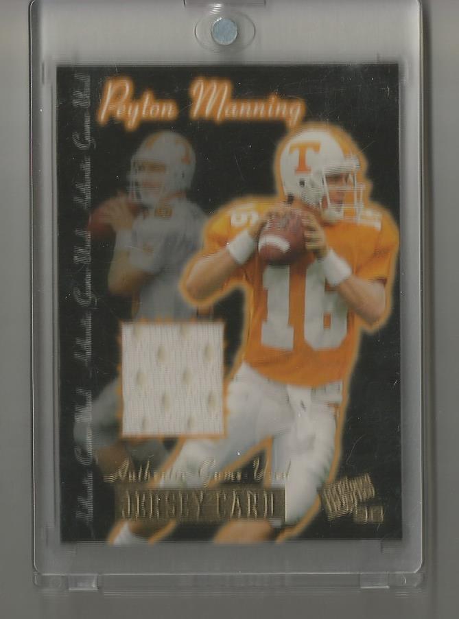 Peyton Manning Press Pass 1998 Rookie GU Jersey Card 413/450. RARE RC