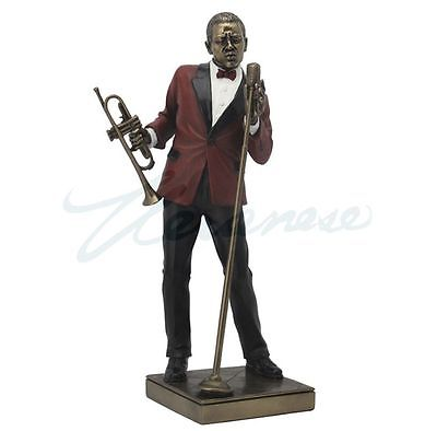 Jazz Band Collection - Male Singer With Trumpet Sculpture Musician Statue