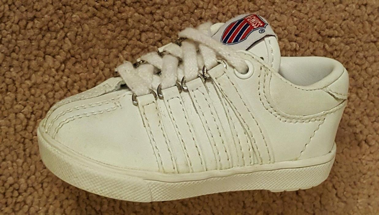 K-SWISS White Shoes  Size US 3 Toddler Shoes.