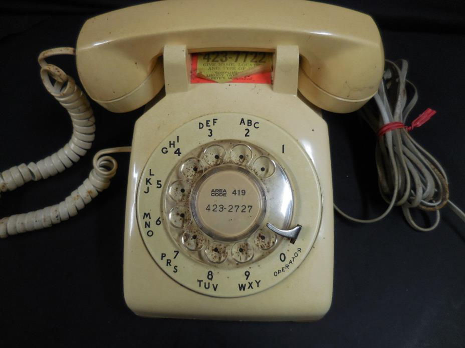 Vintage Rotary Dial Desk Phone - 1959 - Bell/Western Electric - Tested, it WORKS