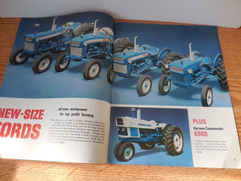 FORD 2000 3000 4000 5000 6000 TRACTOR BROCHURE AD LITERATURE