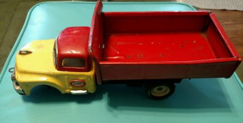vintage tin toy dump truck parts or repair friction truck