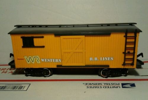Vintage 1986 NEW BRIGHT D&W RR Western Express Train Box Car Only