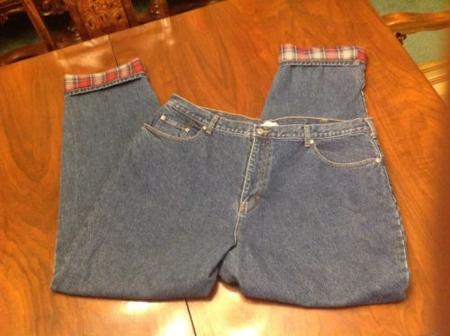 J Crew Flannel Lined Jeans 42x34