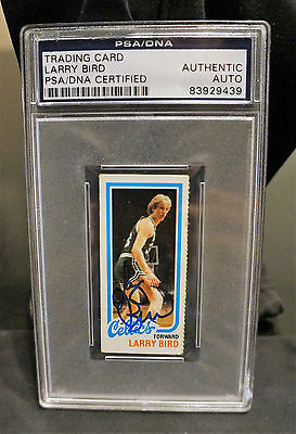 1980-1981 rookie Topps Larry Bird Magic Johnson AUTO PSA/DNA set