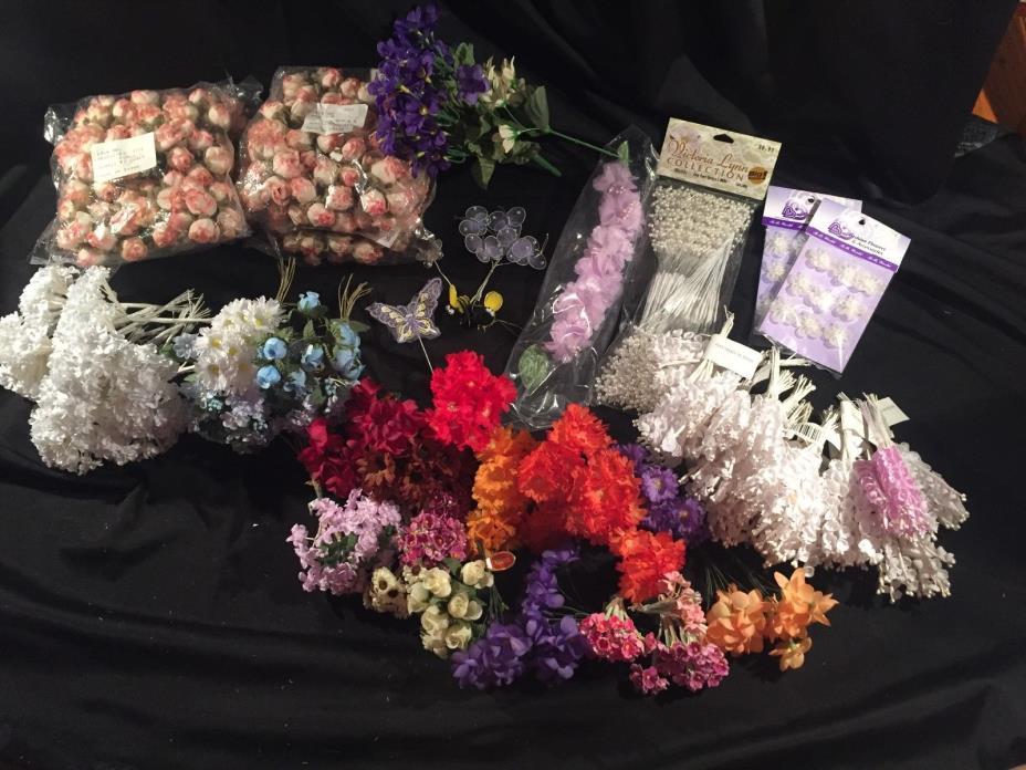 Huge Lot Mini Craft flowers