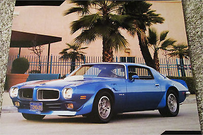 1972 Pontiac Firebird Trans Am ht car print (blue & white)