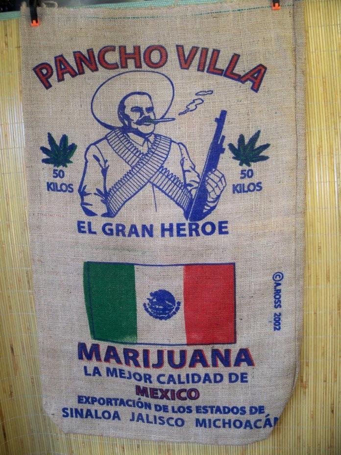 (O) Burlap Bag Advertising for Pancho Villa Pot