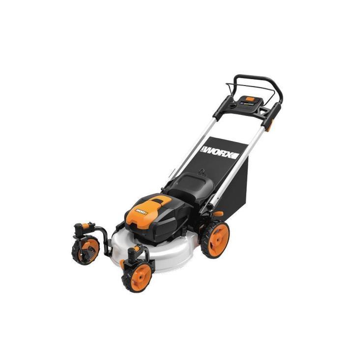 Worx 19 in. 56-Volt Max Lithium-Ion Intellicut Walk Behind Electric Lawn Mower
