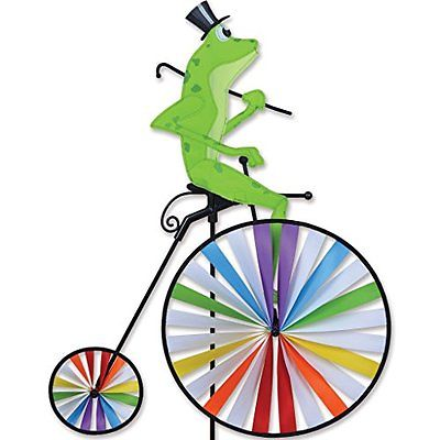 Wind Spinners High Wheel Bike Spinner - Frog