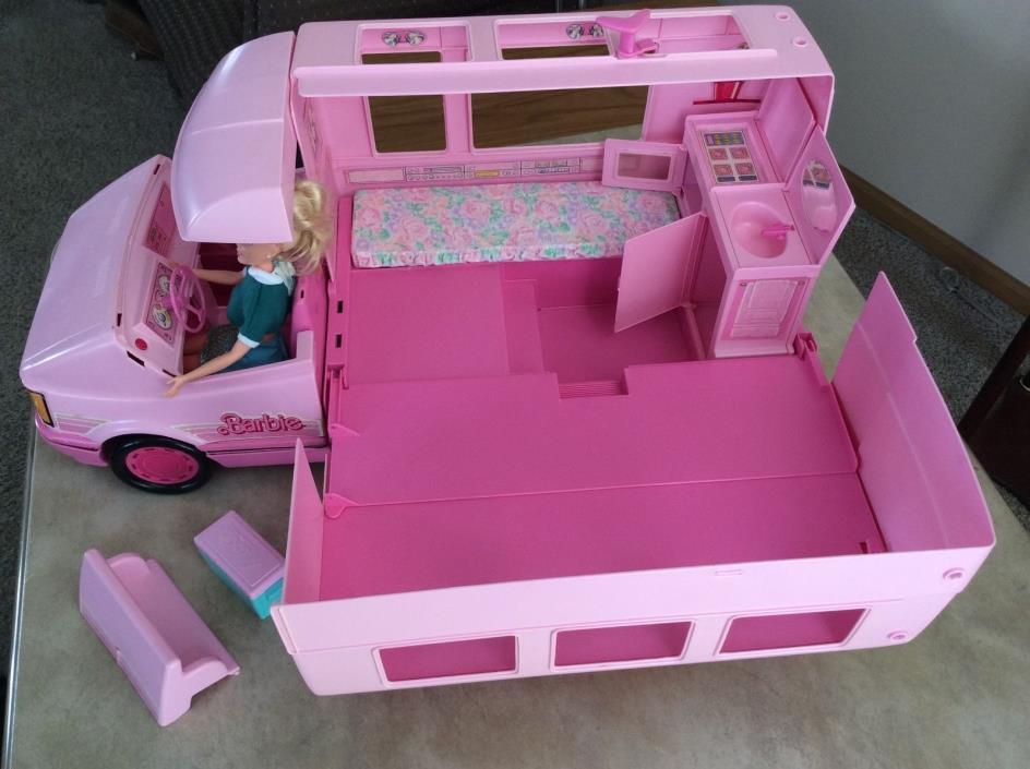 Vintage Barbie Minivan RV camper by Mattel, 1988