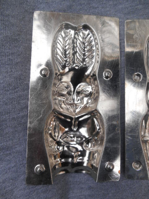 Vintage Chocolate Mold With Clip - Standing Easter Bunny Chocolate Rabbit #637