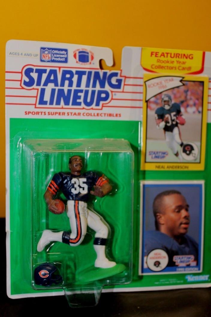 1990 STARTING LINEUP - SLU - NFL - NEAL ANDERSON (BLUE) - CHICAGO BEARS - NIP