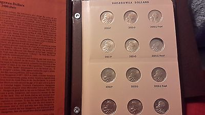 STUNNING 2000 THROUGH 2008 SACAGAWEA P-D-S DOLLAR SET IN ALBUM-MISSING ONE PROOF