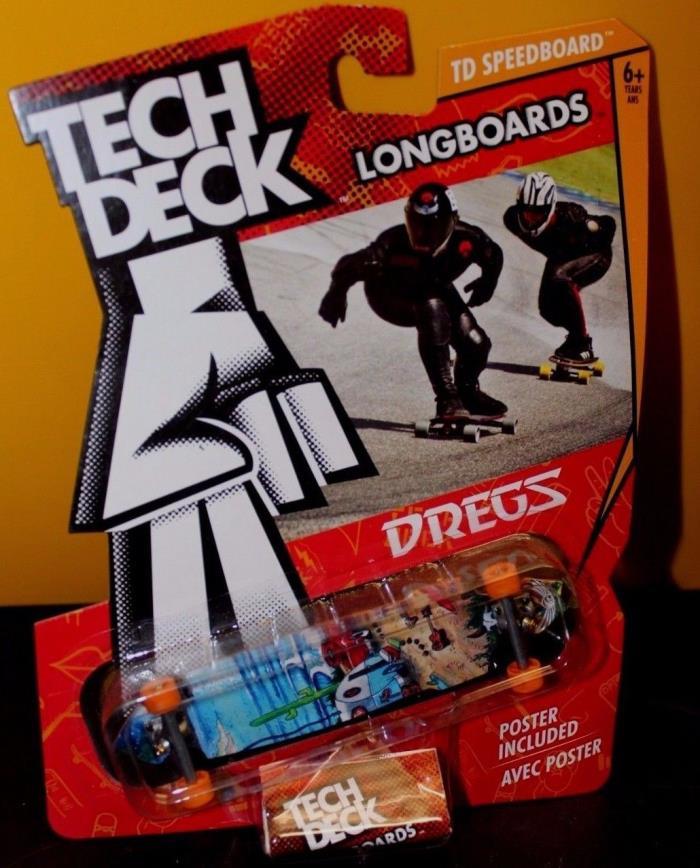 Tech Deck TD Speedboard Longboards Dregs Fingerboard Skateboard 120MM - NIP NRFP