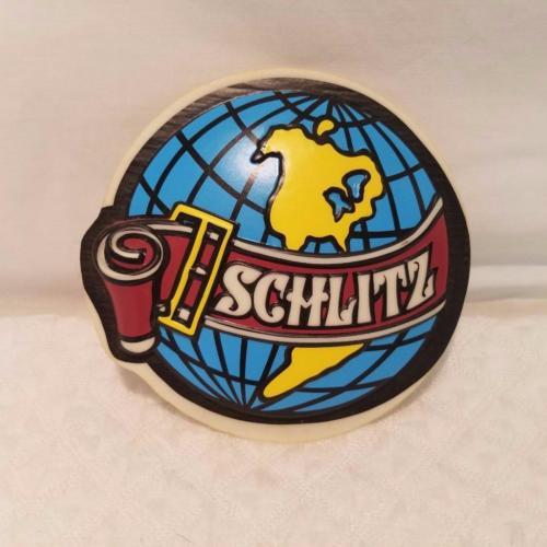 Vintage Schlitz Beer Globe Lighted Sign / Pool Table Light End Panel Inserts