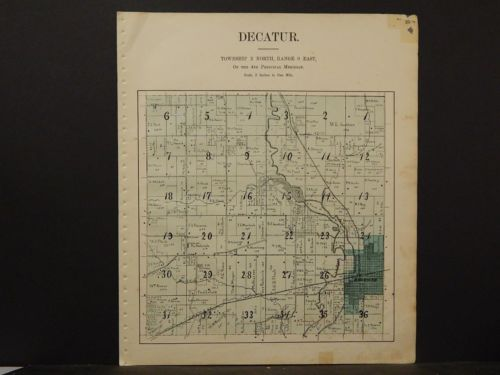 Wisconsin, Green County, Decatur or Cadiz Townships 1902 Double Sided K6#63