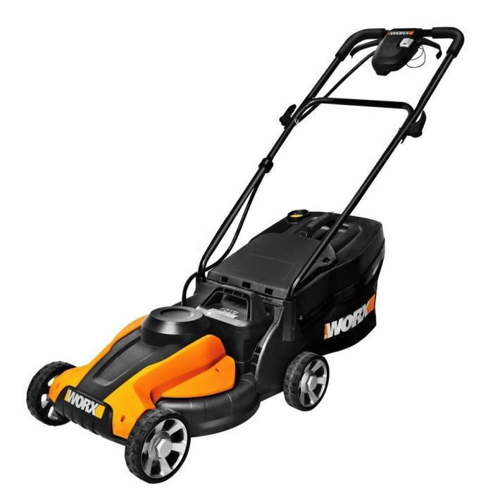 Worx 14 in. 24-Volt Cordless Electric Walk Behind Battery Push Lawn Mower, New