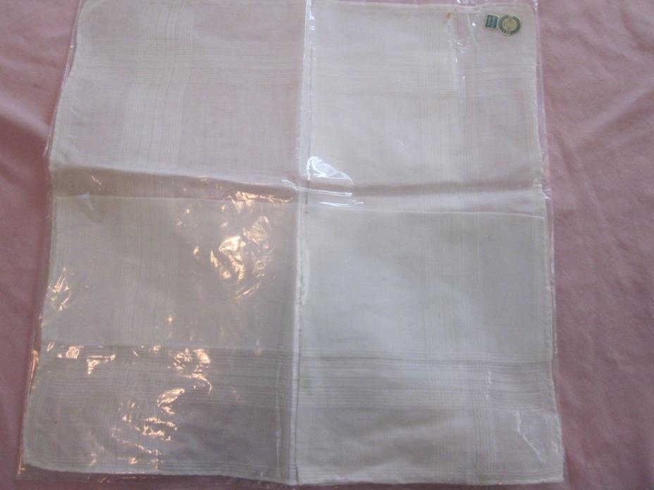 White Irish Linen Handkerchief ~ Hand Rolled ~ 19