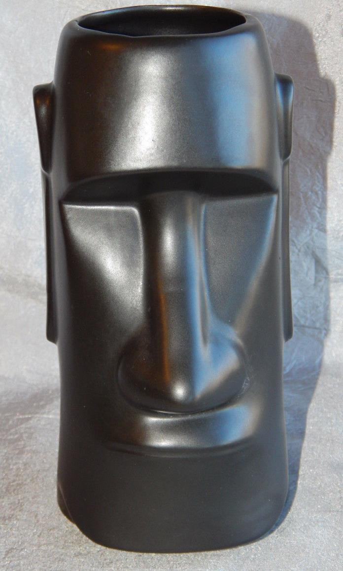 Vintage Glass Tiki Glass or Vase Easter Island MOC of Japan