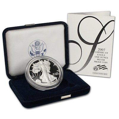 2007 1 oz Proof Silver American Eagle - (w/Box & COA)