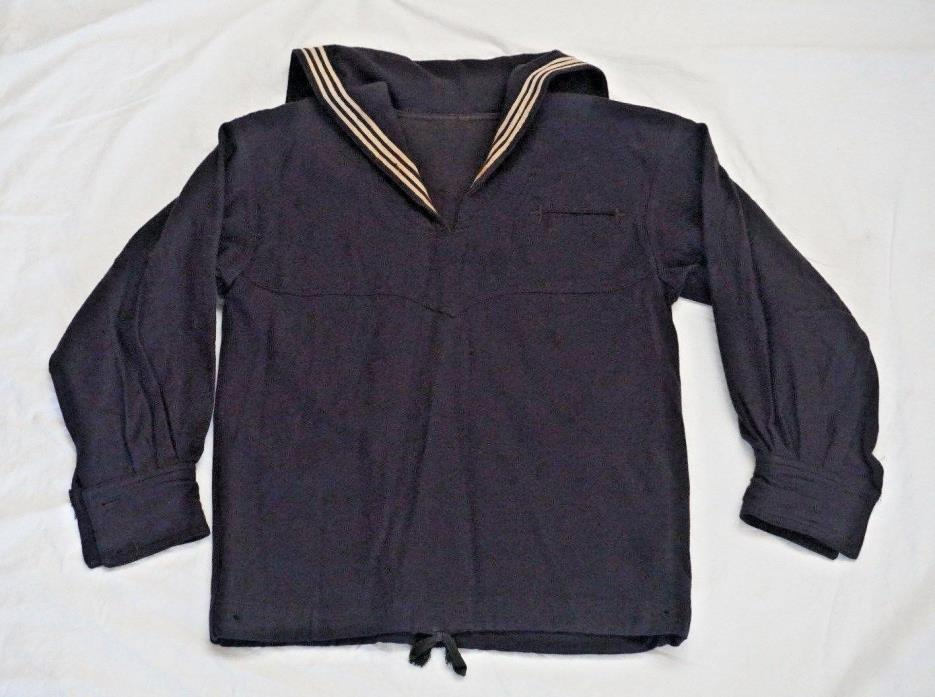 WWI  USN  NAVY BLUE  WOOL DRESS TOP / JUMPER