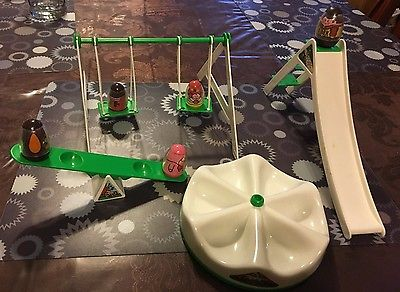 Vintage 1973 Hasbro Weeble Wobbles  Playground Playset