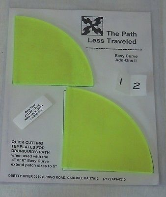 Easy Curve Add Ons II - Templates for Cutting Drunkard's Path