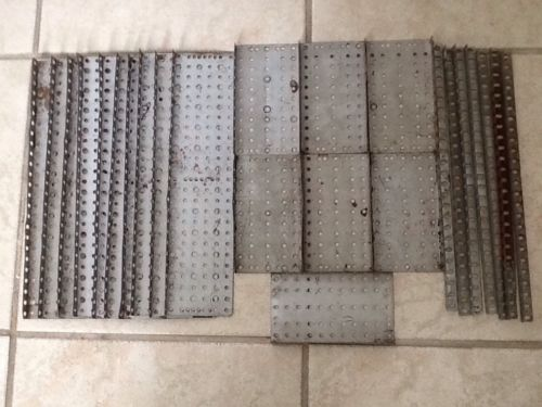 vintage erector set parts Assorted Lot Cd Plated