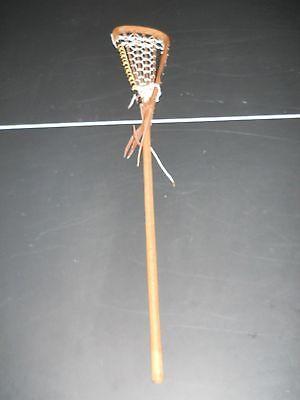 VINTAGE STX WOOD LACROSSE LAX Stick one piece 43