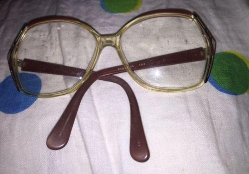 Vintage 70's Sophia Loren Zyloware 183 Polyware Eyeglass Frames Pentagon Glasses