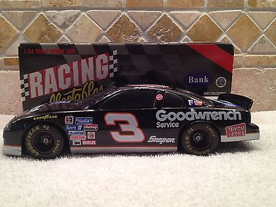 DALE EARNHARDT #3 Goodwrench Services 1995 RCCA Diecast BW Car Bank Excellent