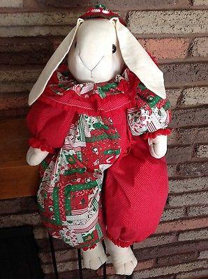 Christmas Bunny Rabbit Stuffed Shelf Sitter 26