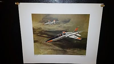 Vintage poster USAF Air Force T-38