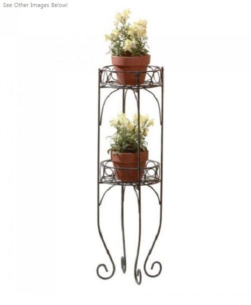 Plant Stands Indoor Metal For Multiple Tall Potted Office Table Shelf Iron Rack