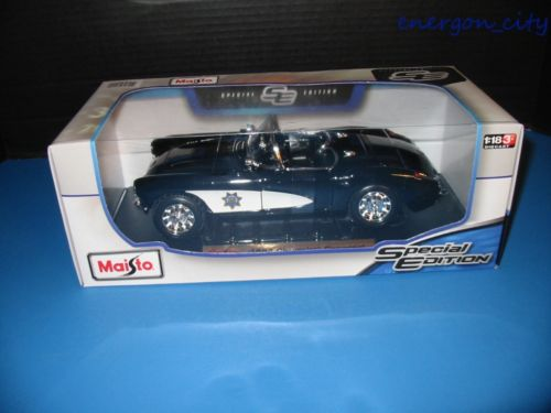 Maisto 1957 Chevy Corvette Police SPECIAL EDITION (1:18 Scale) Brand New
