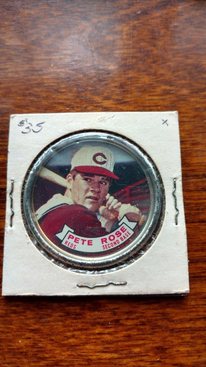 1964 toops baseball coin #82  pete rose alot of silver left front of coin
