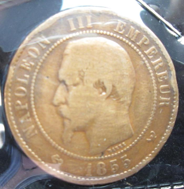 1855-W - France 10 Centimes - B203
