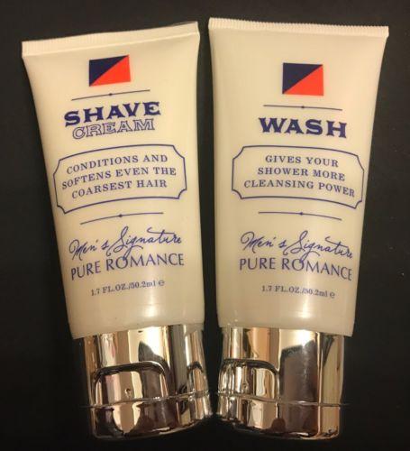 Pure Romance•Shave Cream & Body Wash•For Men•Travel Size 1.7 Oz Each