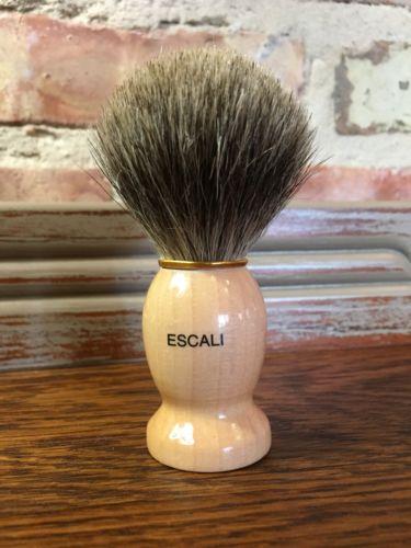 Escali 100 Pure Badger Shaving Brush Hair Men Shave Gft Cream Gel Wet Fast Ship