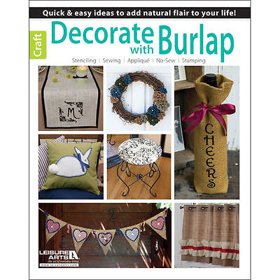 DECORATE WITH BURLAP - STENCILING, SEWING, NO SEW, STAMPING MOVING SALE!!