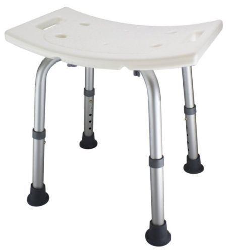 Ez2care Adjustable Lightweight Shower Bench, White HL2