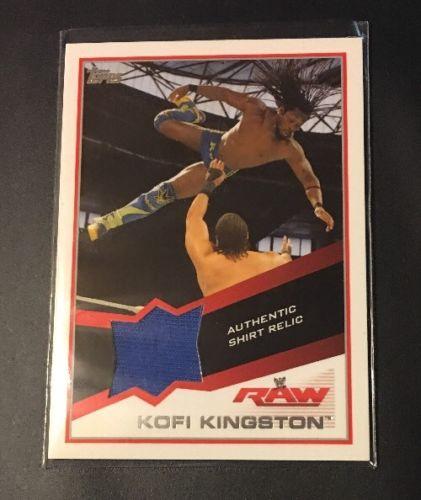 2013 Topps WWE Raw KOFI KINGSTON Authentic Shirt Relic