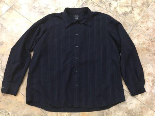Axcess Men's Button Up Shirt Size XXL Navy Blue